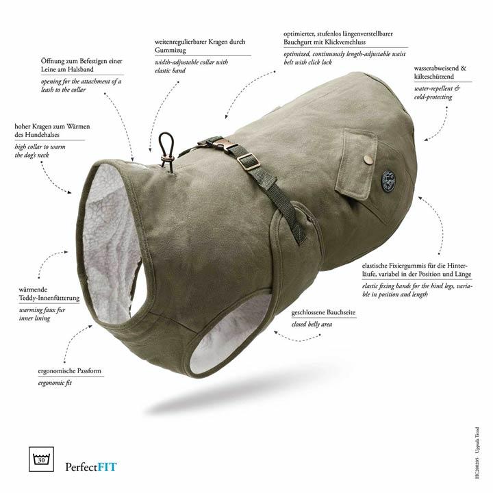 Hunter luxusní designový Kabát pro psy Uppsala Trend