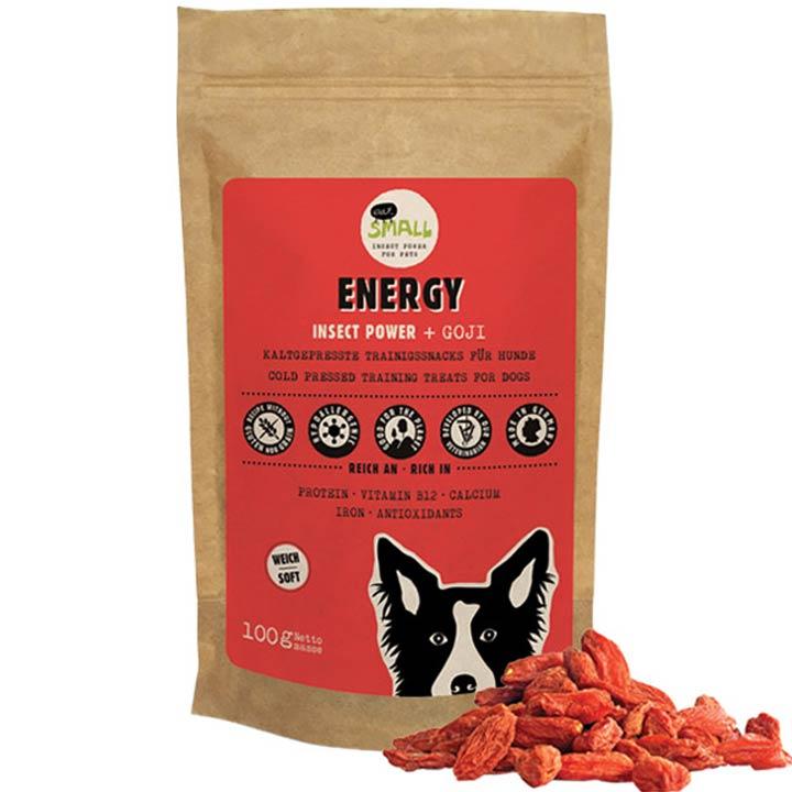 Eat Small Energy Hmyzí pamlsky pro psy s goji