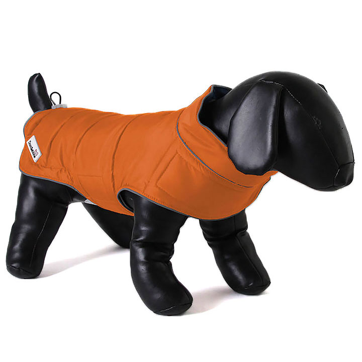 Doodlebone Oboustranná bunda obleček pro psy Grey / Orange