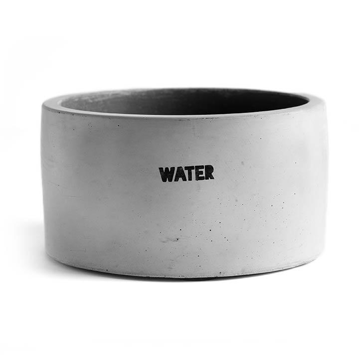 Dog & Water Betonová miska pro psy Light Grey