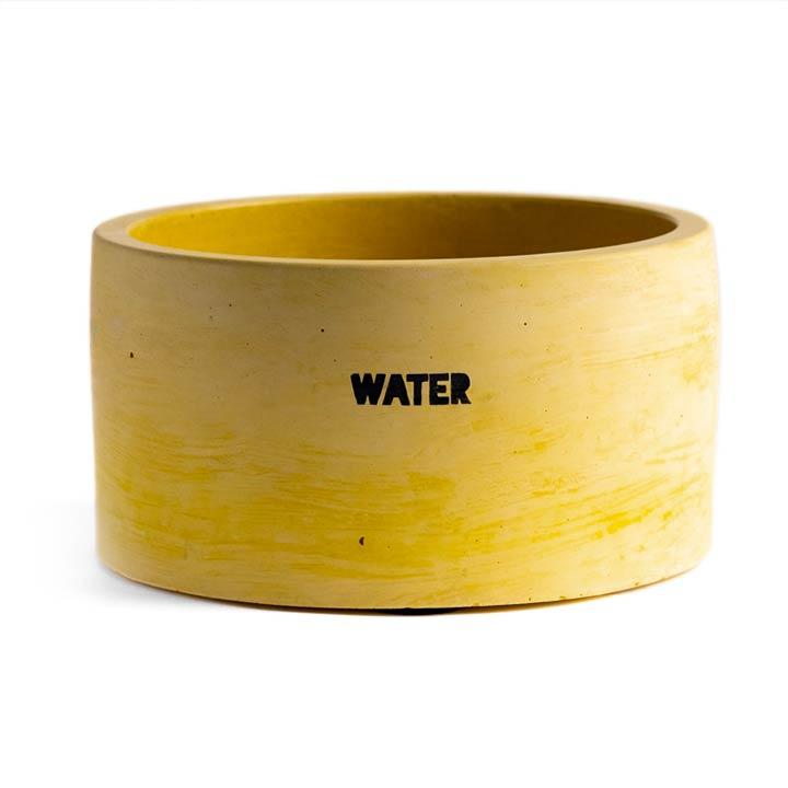 Dog & Water Betonová miska pro psy Yellow