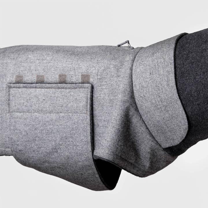 Cloud7 Kabát pro chrty vipety chrtíky Brooklyn Flannel Grey