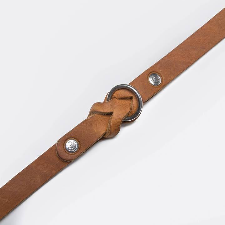 Cloud7 Obojek Riverside Park Saddle Brown designový kožený obojek pro psy