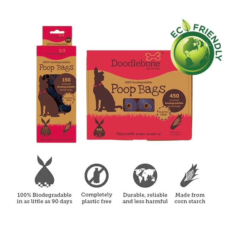 Doodlebone Kompostovatelné sáčky s vůní na hovínka pro psy eko