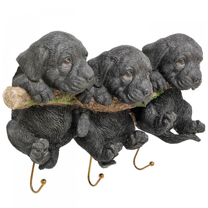 Háčky na stěnu Tři štěňátka dekorace pes